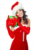 Girl with a present Stock Image