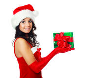 Girl with a present Royalty Free Stock Photo