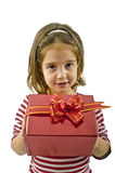 Girl with present Royalty Free Stock Photography