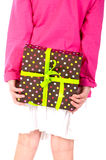 Girl with present Stock Photo