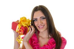 Girl with present Stock Image