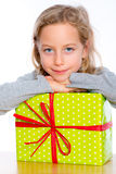 Girl with present Royalty Free Stock Photos