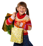 Girl with presents Stock Photography