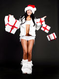 Girl with presents Stock Image