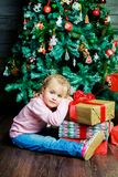 Girl with presents Royalty Free Stock Image