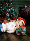 Girl with presents Royalty Free Stock Photo