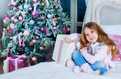 Girl with presents Stock Photo