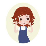 Girl pretending to be a lion. Cute horoscope. Zodiac signs. Leo. Stock Photo