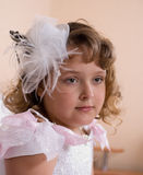 Girl pretends being bride Royalty Free Stock Photography