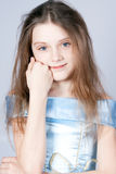 Girl the princess in a blue dress. Stock Photography