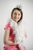 Girl in princess costume. pink Royalty Free Stock Photo