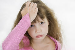 Girl Princess sad. Stock Photos