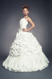 Girl princess in white ball gown Stock Image