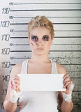 Girl in prison Royalty Free Stock Image