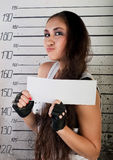 Girl in prison Royalty Free Stock Images
