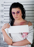 Girl in prison Stock Photography