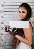 Girl in prison Royalty Free Stock Photos