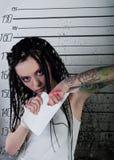 Girl in prison Royalty Free Stock Photo
