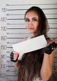 Girl in prison Stock Photo