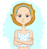 Girl with problem skin Royalty Free Stock Photography