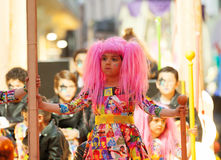 Girl at procession of burial Carnestoltes  - Royalty Free Stock Images