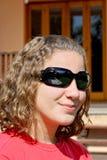 Girl profile. People theme: Teen girl profile royalty free stock photo