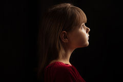 Girl profile Royalty Free Stock Photography