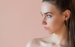 Girl in profile. Stock Photography