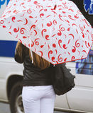 Girl with a umbrella Royalty Free Stock Image