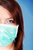 Girl with protection mask Stock Photo