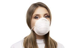 Girl with protective mask Stock Photo
