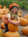 Girl pumpkin costume2 royalty free stock image