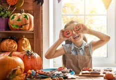 Girl with pumpkin Royalty Free Stock Photography
