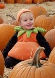 Girl pumpkins 6 Royalty Free Stock Photo