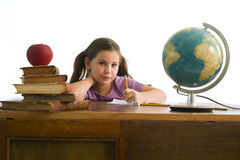Girl pupil Royalty Free Stock Photos