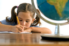 Girl pupil royalty free stock photography