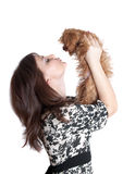 The girl and puppy Royalty Free Stock Photography