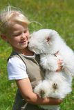 Girl and Puppy Royalty Free Stock Photography