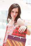 Girl with purchases Stock Photo