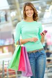 Girl with purchases Stock Photos