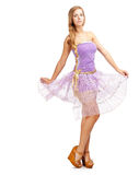 Girl in purple dress Stock Photography
