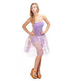 Girl in purple dress Royalty Free Stock Photography