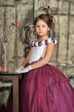 Girl in a purple dress Royalty Free Stock Image