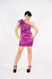 Girl in the purple dress Royalty Free Stock Photos
