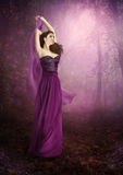 The girl in the purple dress Royalty Free Stock Photography