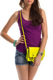 Girl in purple tank top. Royalty Free Stock Images