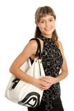 Girl with purse Royalty Free Stock Image
