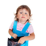 Girl with purse Stock Photos