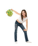 Girl with purse Stock Image