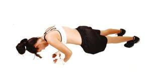 Girl pushes. Stock Photo